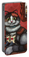Western Boots Cat Painting Portable Battery Charger