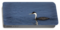 Western Grebe In Late Afternoon Light Portable Battery Charger