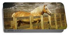 Western Horse In Alberta Canada Portable Battery Charger by Randall Nyhof