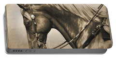 Western Horse Painting In Sepia Portable Battery Charger