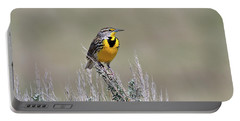 Western Meadowlark Portable Battery Charger by Michael Morse