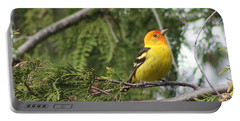 Western Tanager Portable Battery Charger by Leone Lund