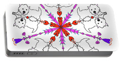 Westie Kaleidoscope Portable Battery Charger