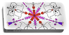 Westie Kaleidoscope Portable Battery Charger by Debra Baldwin