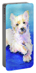 Westie Painting In Watercolor  Portable Battery Charger