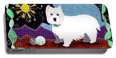 Westie Patchwork Portable Battery Charger