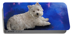 Westie Resting Portable Battery Charger