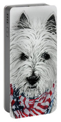 Westie Portable Battery Charger by Terri Mills