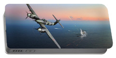 Portable Battery Charger featuring the photograph Westland Whirlwind Attacking E-boats by Gary Eason