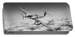 Portable Battery Charger featuring the photograph Westland Whirlwind Portrait Black And White Version by Gary Eason
