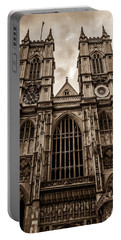 Westminister Abbey Sepia Portable Battery Charger