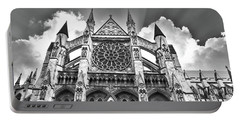 Westminster Abbey Under The Clouds And Rays Portable Battery Charger
