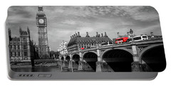 Westminster Bridge And Big Ben London Portable Battery Charger