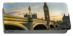 Westminster Bridge At Sunset Portable Battery Charger