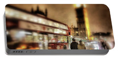 Portable Battery Charger featuring the photograph Westminster Bridge In Rain by Jim Albritton