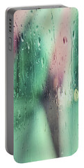 Portable Battery Charger featuring the photograph Wet Aqua by Allen Beilschmidt