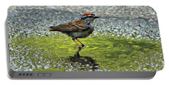 Wet Feathers Portable Battery Charger by Barbara S Nickerson