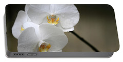 Wet White Orchids Portable Battery Charger