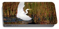 Wetland Landing Portable Battery Charger by Ray Congrove