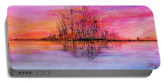 Wetland Sunset Portable Battery Charger