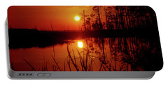Portable Battery Charger featuring the photograph Wetland Sunset by Robert Geary