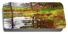 Portable Battery Charger featuring the photograph Wetland Transition by Betsy Zimmerli