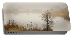 Portable Battery Charger featuring the painting Wetland Wonders Of Winter by Jordan Blackstone
