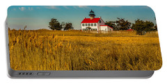 Portable Battery Charger featuring the photograph Wetlands At East Point Light by Nick Zelinsky
