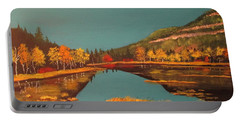 Wetlands In Autumn Portable Battery Charger