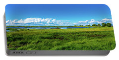 Wetlands On A Windy Spring Day Portable Battery Charger