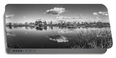 Wetlands Panorama Monochrome Portable Battery Charger
