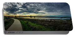 Wetlands Sunset Panorama Portable Battery Charger