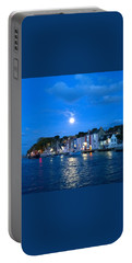 Portable Battery Charger featuring the photograph Weymouth Harbour, Full Moon by Anne Kotan