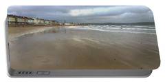 Portable Battery Charger featuring the photograph Weymouth Morning by Anne Kotan
