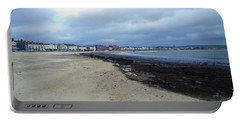 Portable Battery Charger featuring the photograph Weymouth Sands by Anne Kotan