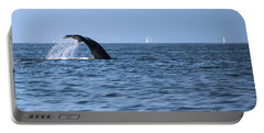 Portable Battery Charger featuring the photograph Whale Fluking by Suzanne Luft