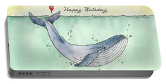 Whale Happy Birthday Card Portable Battery Charger