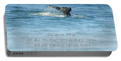 Portable Battery Charger featuring the photograph Whale's Tail by Peggy Hughes