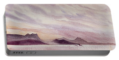 Portable Battery Charger featuring the painting Whangarei Heads At Sunrise, New Zealand by Dorothy Darden