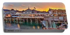 Wharf Dining Portable Battery Charger by Derek Dean