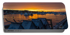 Wharf Sunset Portable Battery Charger by Derek Dean