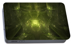 Portable Battery Charger featuring the digital art What If by Jeff Iverson