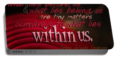 What Lies Within Us Portable Battery Charger