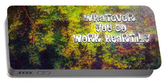 Whatever You Do Work Heartily Colossians 3 23 Portable Battery Charger