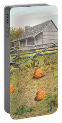 What's Left Of The Old Homestead Portable Battery Charger by Norm Starks