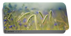 Wheat And Corn Flowers Portable Battery Charger