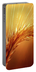 Wheat Close-up Portable Battery Charger