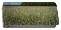 Portable Battery Charger featuring the photograph Wheat Field by Frank DiMarco