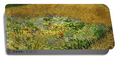 Wheat Field With Alpilles Foothills In The Background At Wheat Fields Van Gogh Series, By Vincent  Portable Battery Charger