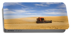 Wheat Harvest Portable Battery Charger by Mike  Dawson